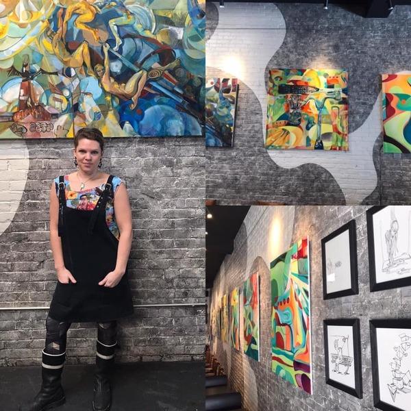 Artist Reception for Anyahlee at Coolidge Corner Color Change