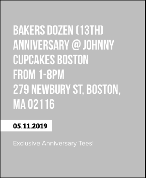 13th Anniversary for Johnny Cupcakes