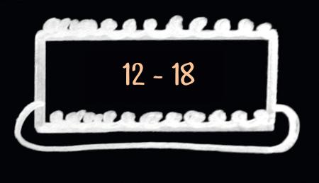 large cake serves 12 to 18