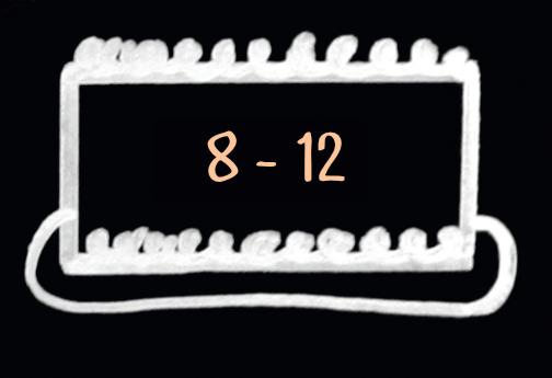 medium cake serves 8 to 12